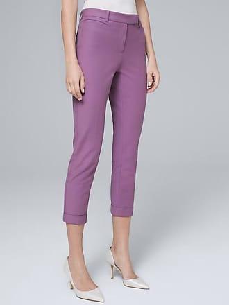 White House Black Market Womens Slim Cropped Pants by White House Black Market, Greek Iris, Size 12 - Regular