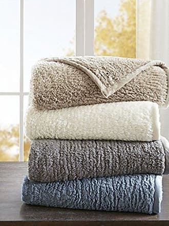 Woolrich Burlington Luxury Berber Blanket Blue 6690 Twin Size Premium Soft Cozy Soft Berber For Bed, Coach or Sofa