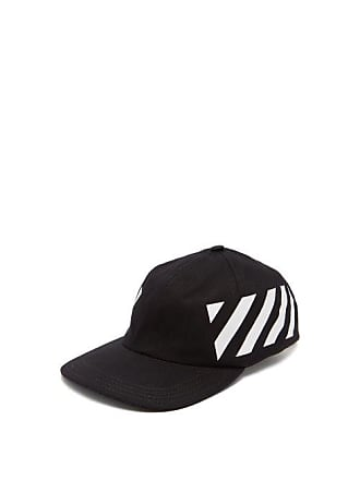 Off-white Off-white - Stripe Print Cotton Cap - Mens - Black White