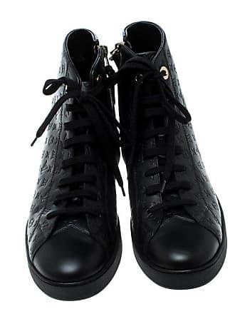 903be1775f71 Louis Vuitton Black Empreinte Leather Stellar High Top Sneakers Size 37.5