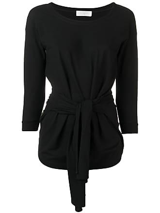 Zanone tie front sweater - Black