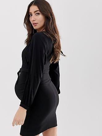 cb3e689c7c69 Asos Maternity ASOS DESIGN Maternity bardot belted mini dress - Black