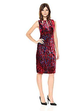 Elie Tahari Womens Jemra Dress Print, Wild Currant, 4