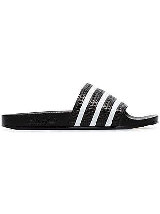 finest selection 03881 27f48 adidas black and white Adilette slides
