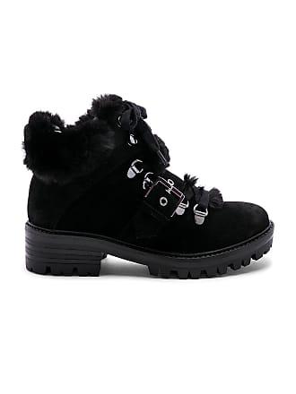 Kendall + Kylie Edison Faux Fur Bootie in Black