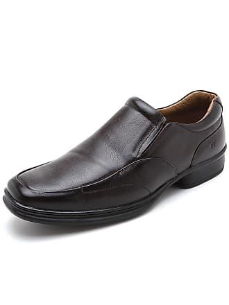 Rafarillo Sapato Social Couro Rafarillo Liso Marrom