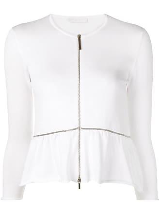 Fabiana Filippi zipped cardigan - White