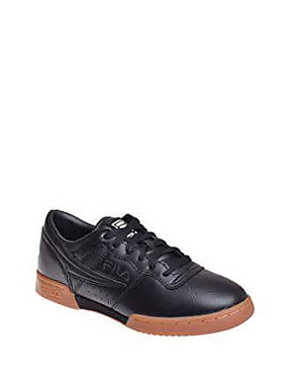 buy online 73b78 2ab65 Fila Herren SchwarzGum Original Fitness Premium Sneakers-UK 7