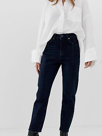 a7e84ecb Asos Petite ASOS DESIGN Petite Recycled Farleigh high waisted slim mom jeans  in dark wash blue