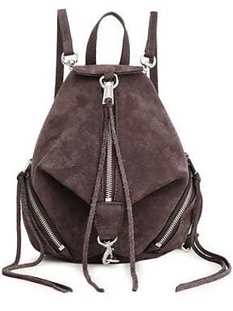 Rebecca Minkoff Rebecca Minkoff Woman Textured-leather Backpack Dark Brown Size