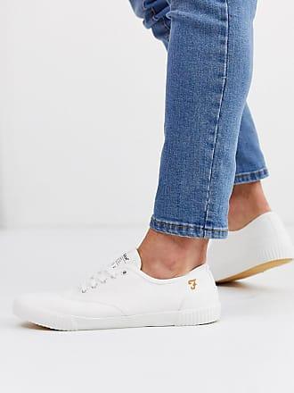 Farah Weiße Sneaker mit Cupsohle