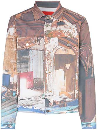 424 Jaqueta jeans estampada - Multicoloured