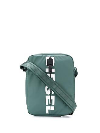 Diesel Bolsa carteiro com logo - Verde