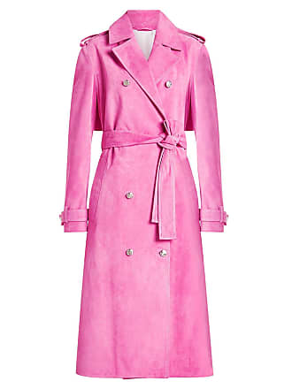 119e8e0babf7 CALVIN KLEIN 205W39NYC Calvin Klein 205W39Nyc - Pink Womens Suede Trench  Coat - The Webster