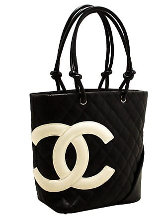 0ec8e52b4710 CHANEL BOUTIQUE Chanel Cambon Tote Small Shoulder Bag Black White Quilted  Calfskin