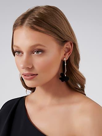 Forever New Olympia Soft Petal Drop Earrings - Black. - 00