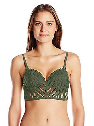 29a6b435aa Robin Piccone Womens Sophia Crochet Bustier Bikini Top with Underwire