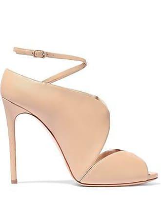 a5d9e98d6b2 Casadei Casadei Woman Cutout Leather Sandals Pastel Pink Size 38
