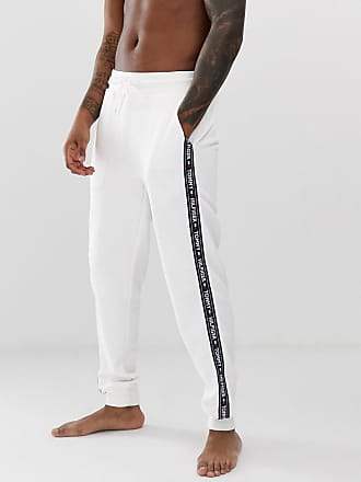 71bc4e00b7 Tommy Hilfiger joggers with contrast side taping in white