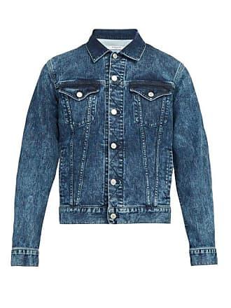 Givenchy Logo Denim Jacket - Mens - Blue