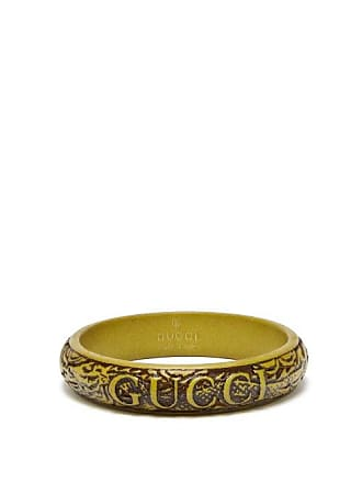 31c40b4bc Gucci Logo And Snake Carved Resin Bangle - Mens - Green