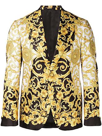 Versace Blazer com estampa Barocco - Branco