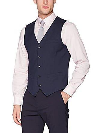 af4cf4f2d0 Perry Ellis Mens Very Slim Fit Pin Stripe Vest