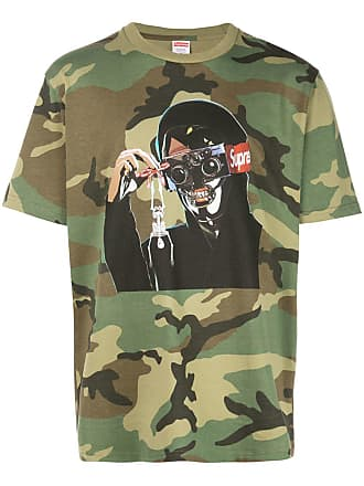 SUPREME camo graphic logo T-shirt - Green
