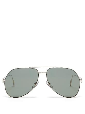 93aa70d227d3 Cartier Première De Cartier Aviator Metal Sunglasses - Mens - Silver