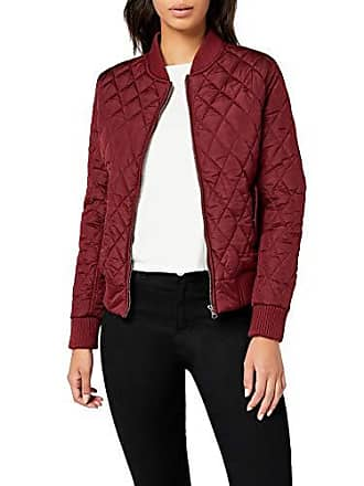 01548b2ffdf Urban Classics Ladies Diamond Quilt Nylon Jacket-Chaqueta Mujer Rot  (burgundy 606)