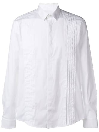Les Hommes pleated front formal shirt - Branco