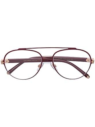 Dolce & Gabbana Eyewear Armação de óculos aviador - Vermelho