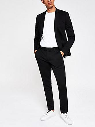 River Island Mens Black super skinny suit pants