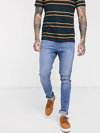 LDN DNM skinny fit jeans in mid blue wash