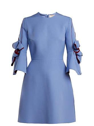 acc153bb870 Roksanda Ilincic Harlin Bow Sleeve Bonded Crepe Mini Dress - Womens - Blue  Multi