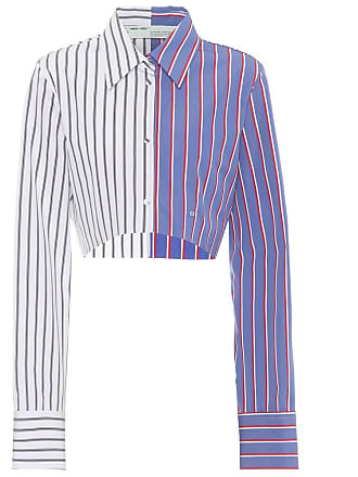 Off-white Cropped striped cotton shirt