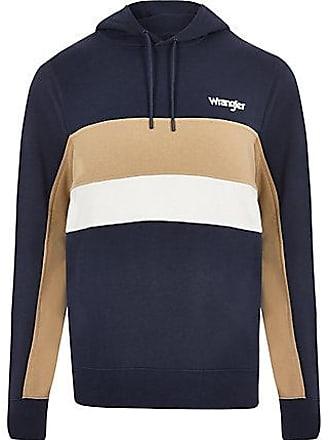 Wrangler Mens Wrangler navy block hoodie