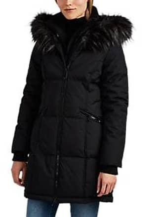 Barneys New York Womens Faux-Fur-Trimmed Tech-Fabric Parka - Black Size XL