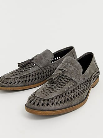 New Look faux leather woven tassel loafer in gray - Gray