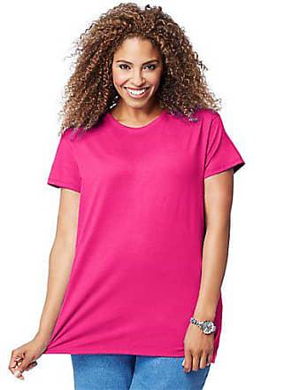 Just My Size Cotton Jersey Short-Sleeve Crewneck Womens Tee Process Blue 1X