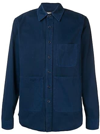 Aspesi Camisa com bolsos - Azul