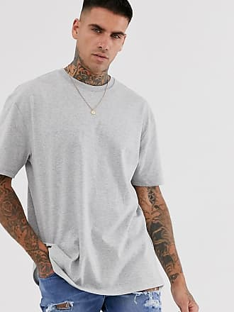 Topman Übergroßes, kalkgraues T-Shirt