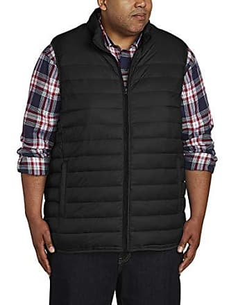 Amazon Essentials Mens Big & Tall Lightweight Water-Resistant Packable Puffer Vest, Black, 5X Tall