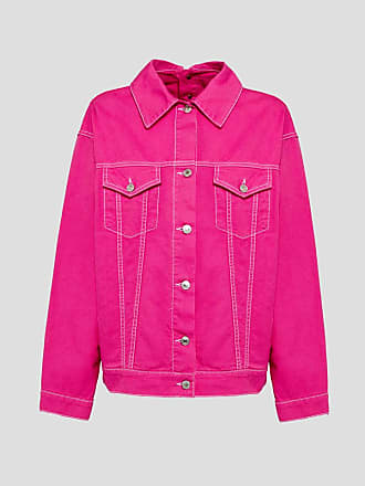 Msgm denim jacket with back detail and print