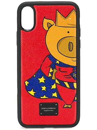 Dolce & Gabbana printed iPhone X case - Vermelho