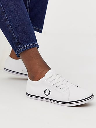 Fred Perry Kingston twill sneakers in white - White