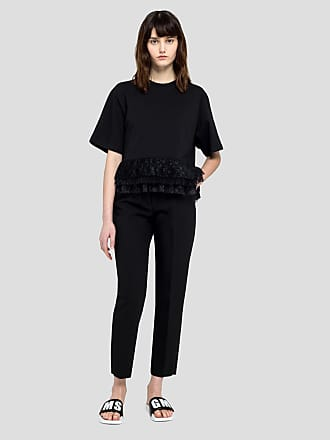 Msgm slim pants in double crepe cady