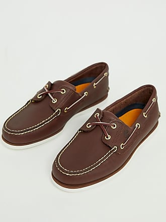 Timberland classic boat shoes in brown leather - Brown