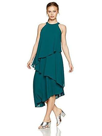Maggy London Womens Petite Silky Georgette Sleeveless Fly Away Dress, Hunter, 4P