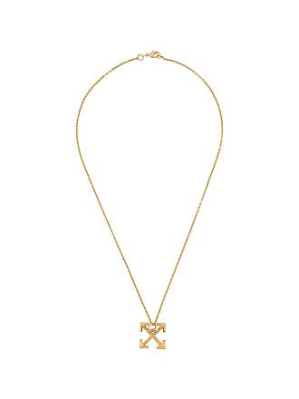 Off-white arrow pendant necklace - Dourado
